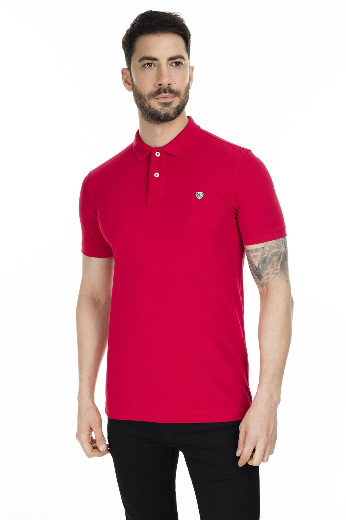 Lufian Laon Spor Polo T- Shirt Kırmızı 0