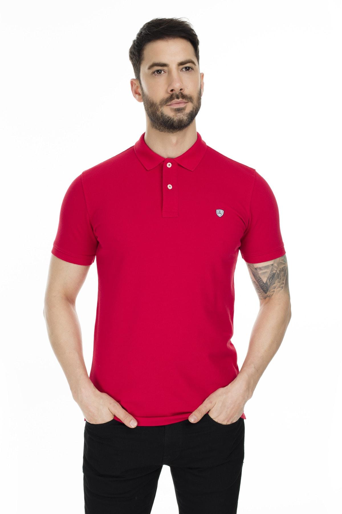 Lufian Laon Spor Polo T- Shirt Kırmızı 2