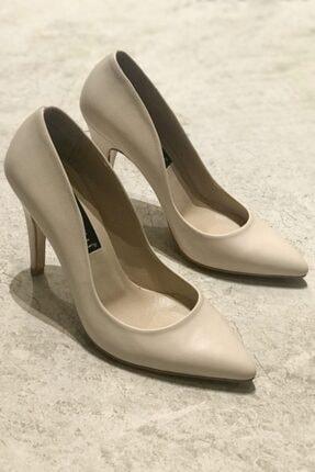 Kadın Ten Rengi Hakiki Deri 35-40 Numara Topuklu Stiletto Ayakkabı 000318.1TEN