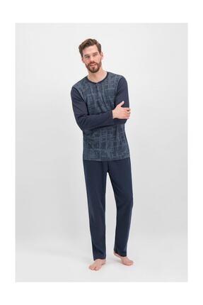 تصویر از 280 Erkek Uzun Kollu Pijama Takımı