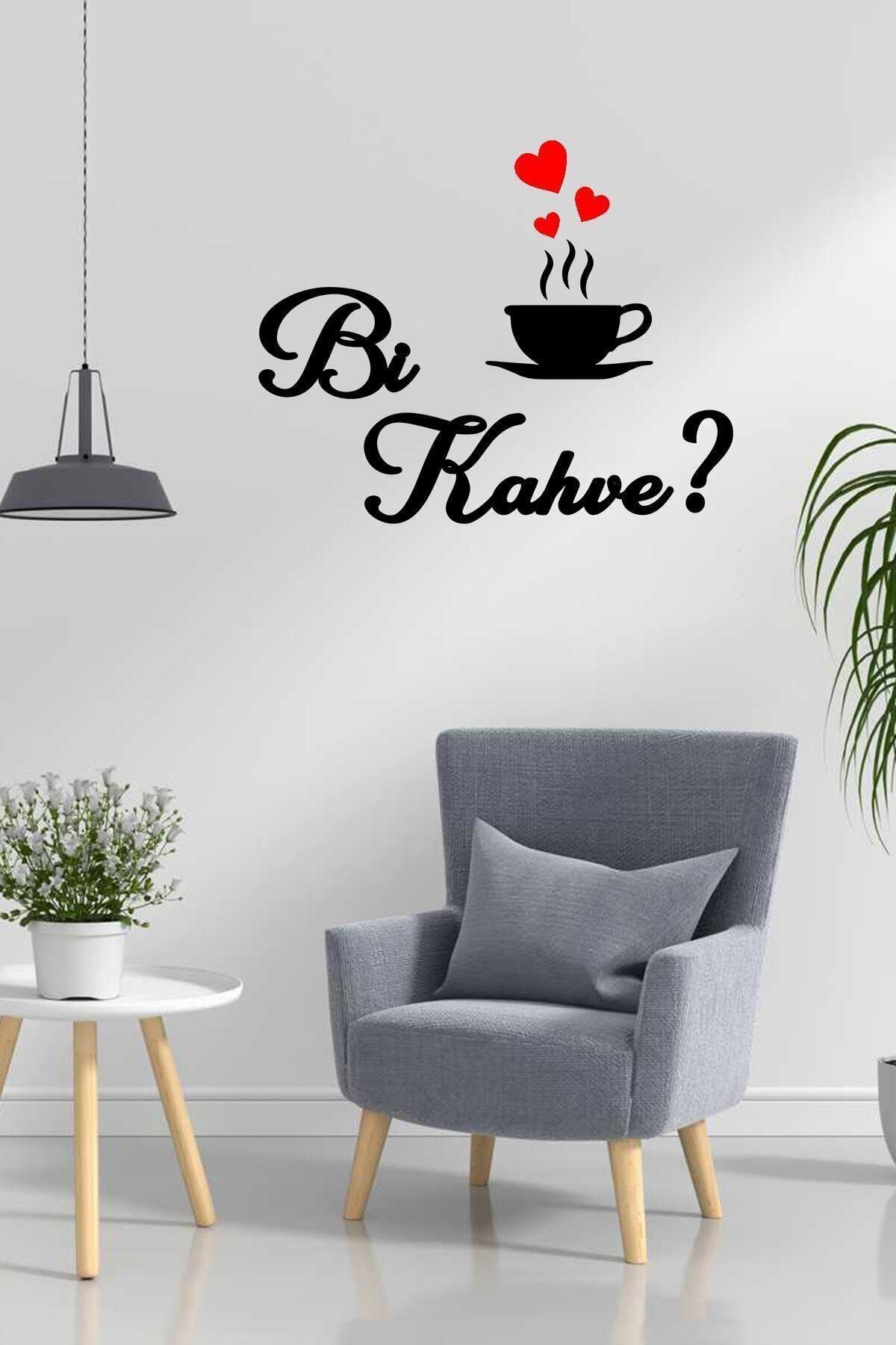 Bi Kahve Ahşap Dekoratif Mutfak Duvar Tablosu