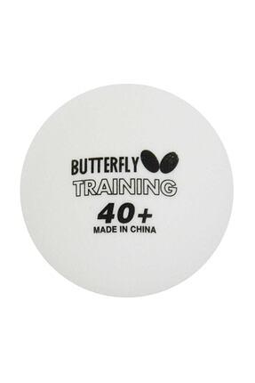 BUTTERFLY 40+ 6'lı Masa Tenisi Beyaz Antrenman Topu 1
