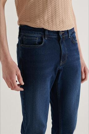 Avva Erkek Lacivert Slim Fit Jean Pantolon A11y3559 2