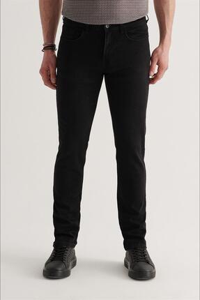 Avva Erkek Siyah Slim Fit Jean Pantolon A11y3701 0
