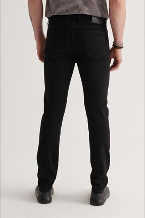 Avva Erkek Siyah Slim Fit Jean Pantolon A11y3701 3