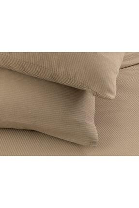English Home Cool Stripe Soft Touch Çift Kişilik Pike Seti 200x220 Cm Bej 3
