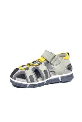 Toddler 2906-1 Ortopedik Hakiki Deri Erkek Çocuk Gri Sandalet 2