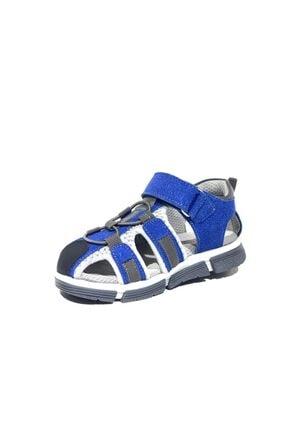Toddler 2905-1 Ortopedik Hakiki Deri Erkek Çocuk Mavi Sandalet 2
