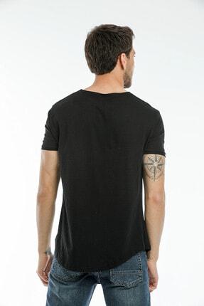 la & vetta Siyah Basic Erkek Bisiklet Yaka Kısa Kollu T-shirt 4