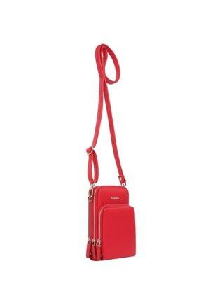 Cengiz Pakel Shirley Kadın Omuz Çantası 7307-kırmızı 1