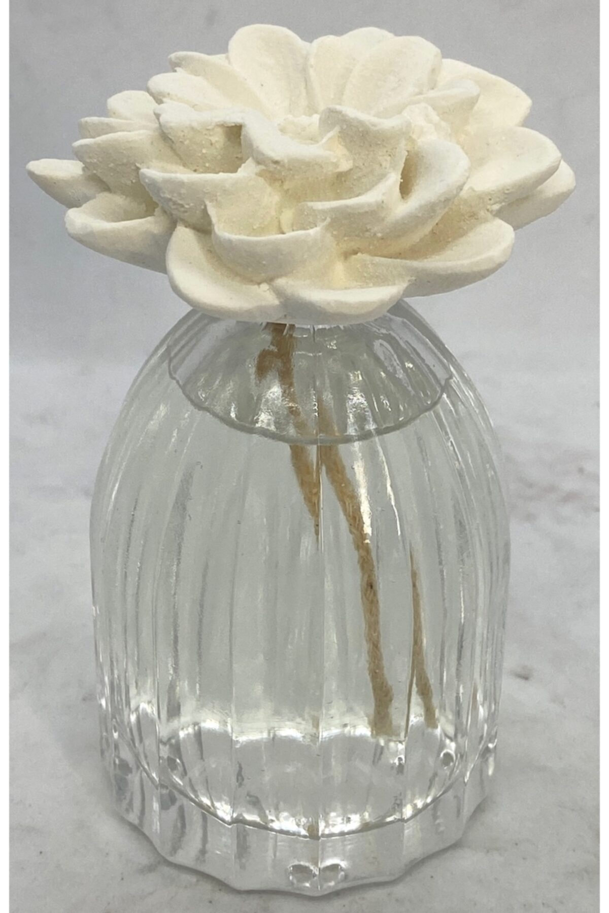 100 Cc Kafes Şişe Çiçek Seramik Taşlı Yasemin Sandal Oda Kokusu