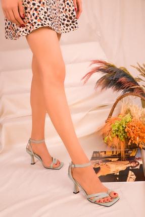 Soho Exclusive Yeşil Kadın Klasik Topuklu Ayakkabı 15834 2