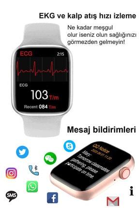 Black Dice Iphone Ve Android Uyumlu Watch 6 Plus Son Nesil Beyaz Yan Düğme Ileri Geri Ve Yakınlaştırma Aktif 4