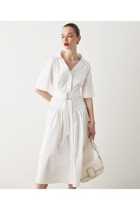 İpekyol Kuşaklı Poplin Elbise 0