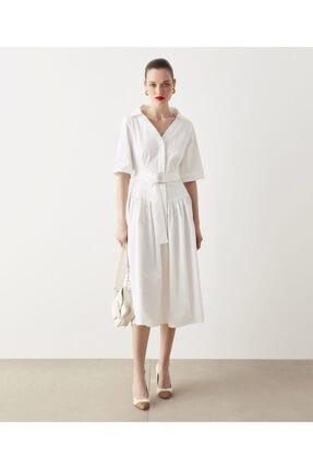 İpekyol Kuşaklı Poplin Elbise 3