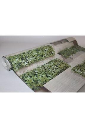 Zümrüt Çiçekli Taş Desen Duvar Kağıdı 5,33 M² 2
