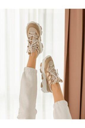 NAVYSIDE Kadın Yüksek Tabanlı Spor Ayakkabı Sneaker Yürüyüş Ayakkabısı 1