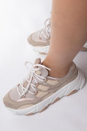 NAVYSIDE Kadın Yüksek Tabanlı Spor Ayakkabı Sneaker Yürüyüş Ayakkabısı 2