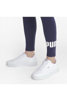 Puma SKYE CLEAN Beyaz Kadın Sneaker Ayakkabı 101085505 3