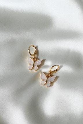 Reorah Collection Beyaz Kelebek Küpe 0