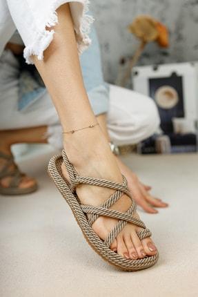 meyra'nın ayakkabıları Kadın Halat Sandelet Vizon 2