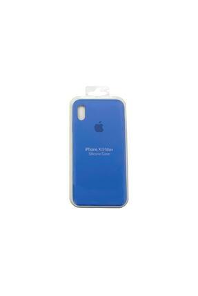 Ebotek Iphone Xs Max Kılıf Silikon Içi Kadife Lansman Kot Mavisi 0