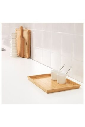 IKEA Tepsi Bambu Meridyendukkan Sunum Tepsi 25x33 Cm 2