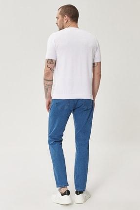Altınyıldız Classics Erkek Mavi Slim Fit Dar Kesim Denim Esnek Jean Kot Pantolon 2