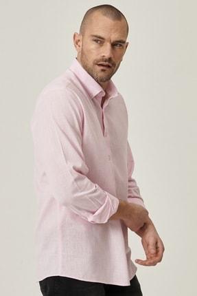 Altınyıldız Classics Erkek Pembe Tailored Slim Fit Dar Kesim Düğmeli Yaka %100 Koton Gömlek 1