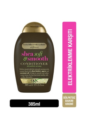 OGX Elektriklenme Karşıtı Shea Soft&Smooth Sülfatsız Bakım Kremi 385 ml 0