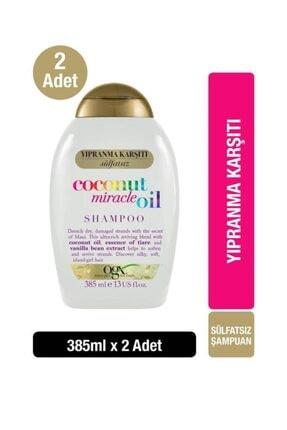 OGX Yıpranma Karşıtı Coconut Miracle Oil Sülfatsız Şampuan 385 ml x2 0