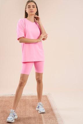 PushOver Basic Oversize Kadın 2li Taytlı Takım My1453 3