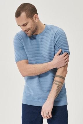 Altınyıldız Classics Erkek Mavi 360 Derece Her Yöne Esneyen Slim Fit %100 Koton Triko Tişört 1