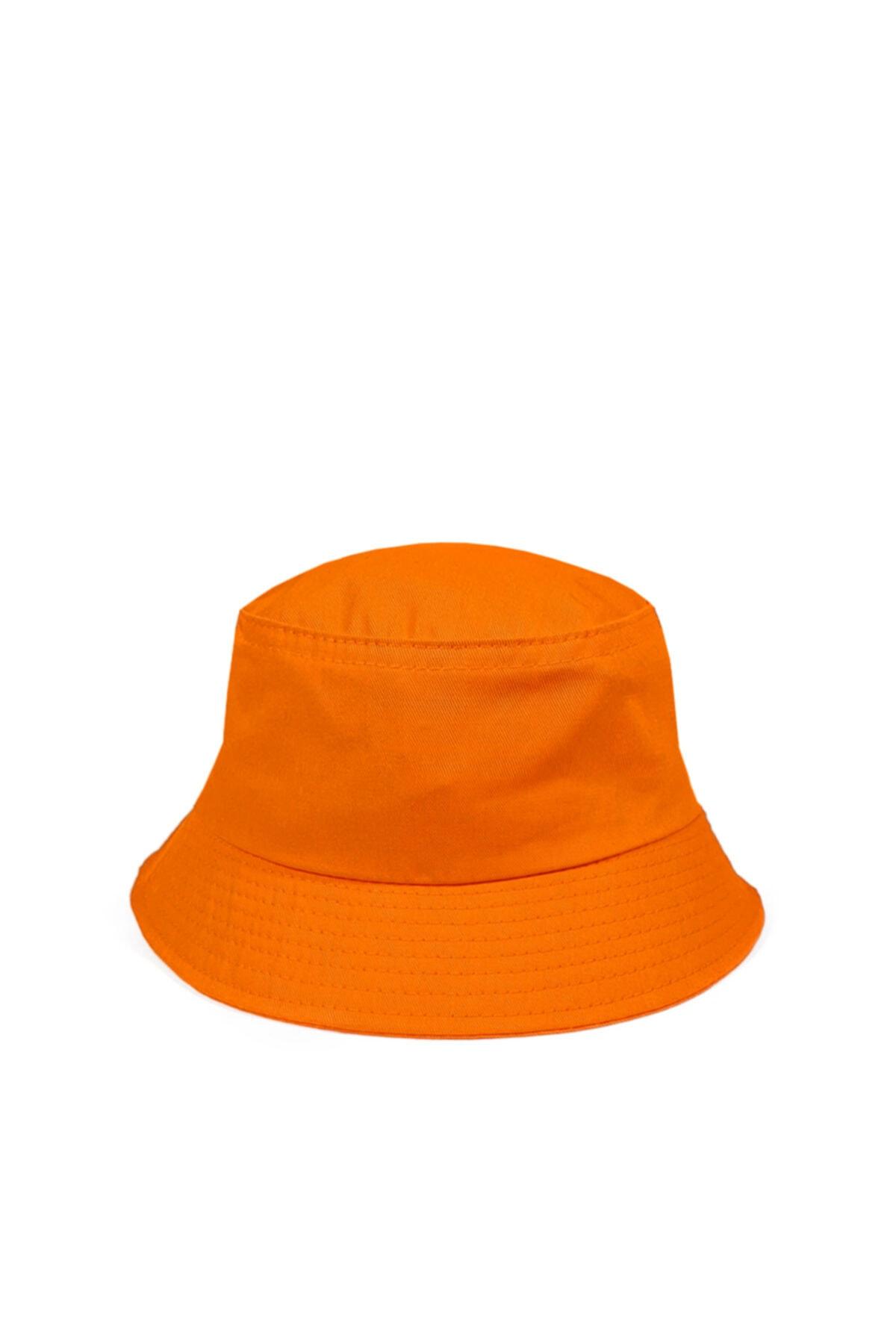 Unisex Turuncu Balıkçı Bucket Şapka Gc013903