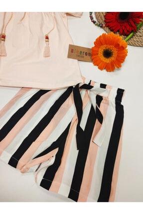 Biberon Çocuk Giyim Somon Renk Askılı Şortlu Takım 1