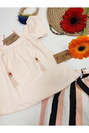 Biberon Çocuk Giyim Somon Renk Askılı Şortlu Takım 3
