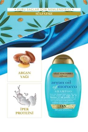 OGX Nemlendirici ve Canlandırıcı Argan Oil Morocco Sülfatsız Şampuan+Bakım Kremi 385ml+Yağ 100ml 2
