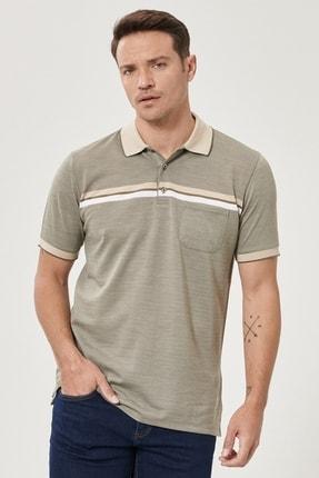 Altınyıldız Classics Erkek Haki Regular Fit Bol Kesim Polo Yaka Cepli Tişört 1