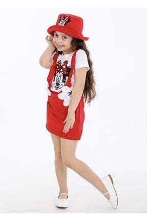 RAPAPA Kız Çocuk Slopet Elbise Kırmızı 1904- 0