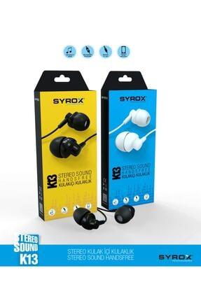 Syrox Beyaz Kablolu Kulak Içi Kulaklık 0