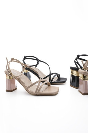 Marjin Kadın Şeffaf Topuklu Ayakkabı Manerbej 2
