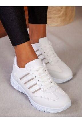ayakkabıhavuzu Kadın Beyaz Spor Ayakkabı 3
