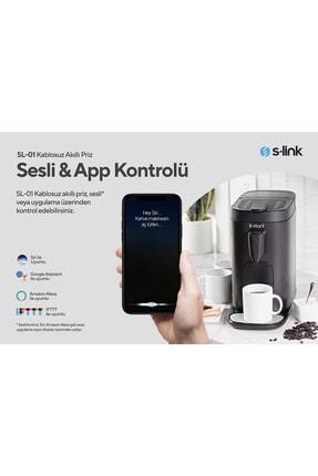 S-Link Swapp SL-01 16 Amper Akıllı Wifi TUYA Google Assistant Alexa Siri Destekli Priz Wifi TUYA 3