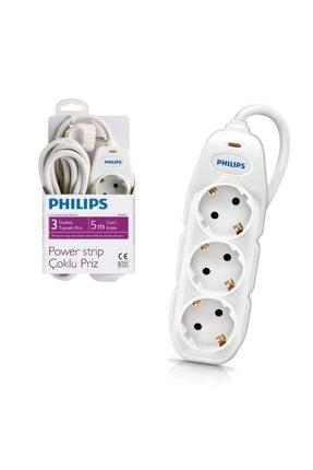 Philips Akım Korumalı Üçlü Priz 5 mt 0
