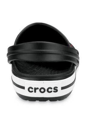 Crocs Siyah Unisex Crocband Kenarı Siyah Beyaz Çizgili Terlik 3