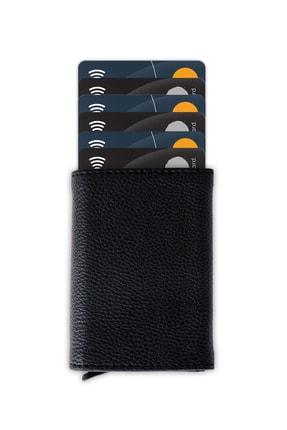 Sadico Siyah Cüzdan - Erkek Otomatik Mekanizmalı Kartlık - Deri Cüzdan - Toplam 9 Adet Kart Kapasiteli 0