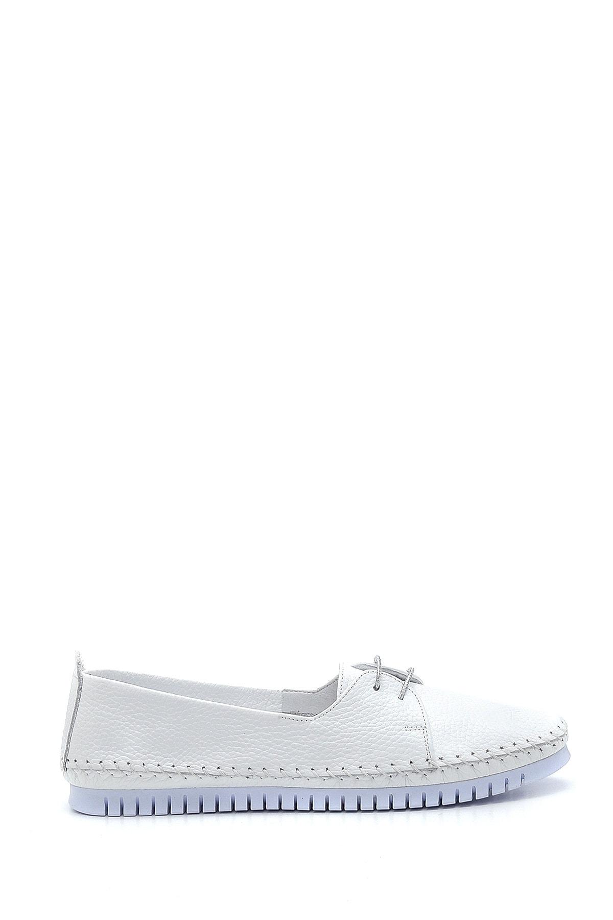 Kadın Beyaz Deri Casual Ayakkabı