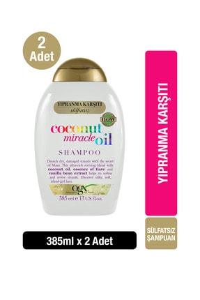 OGX Yıpranma Karşıtı Coconut Miracle Oil Bakım Kremi 385 ml X2 0