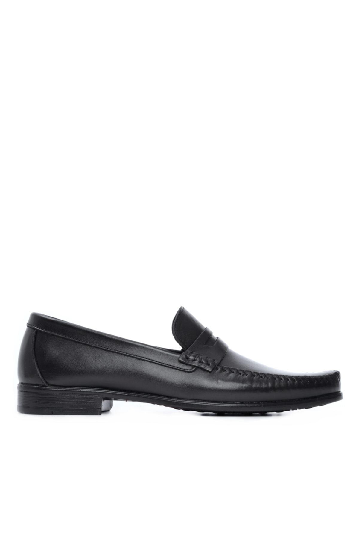 Erkek Siyah Deri Casual Ayakkabı 679 960 Erk Ayk Y21