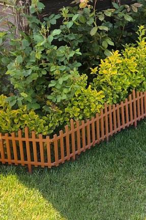 Taşmatik Dekoratif Bahçe Çiti Plastik Kahverengi Çit 59 Cm Tek Peyzaj Çiti Çiçek Koruma Çiti 3